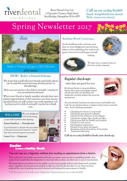 Spring Newsletter River Dental